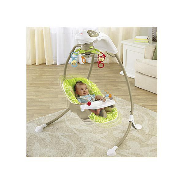 Cuna Mecedora Amigos De La Naturaleza Fisher Price