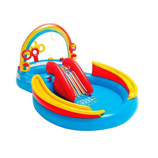 Centro De Juegos Inflable Rainbow Ring Intex Intex Babytuto