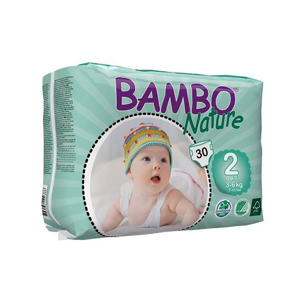 Pañales Desechables Ecológicos Bambo Nature Talla: P (3- 6 Kg) 30 uds  Bambo Nature - babytuto.com