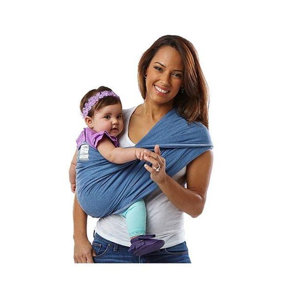 Portabebé sin amarras básico denim talla MBaby K'tan Baby K'tan - babytuto.com