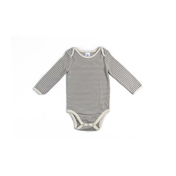 Body pima orgánico listado, blanco, Moonwear Moonwear - babytuto.com