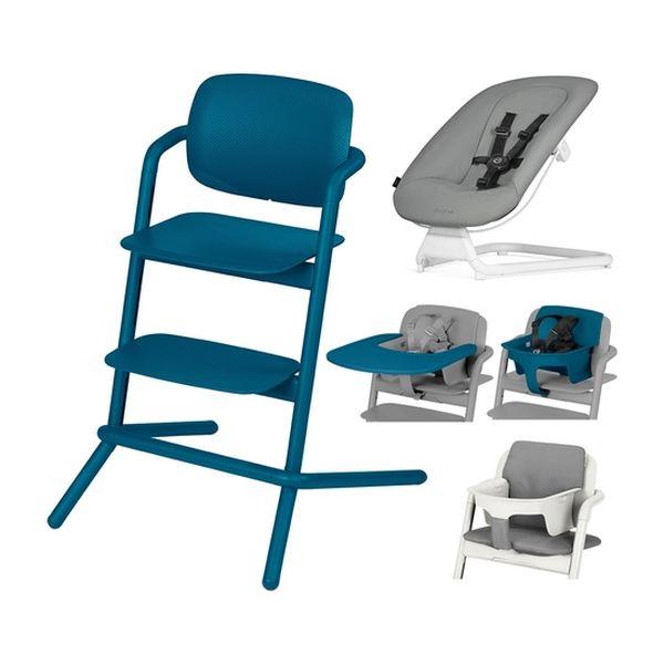 f69e70f01 Set silla de comer Lemo azul + silla mecedora Bouncer RN+ Cybex Cybex -  babytuto.