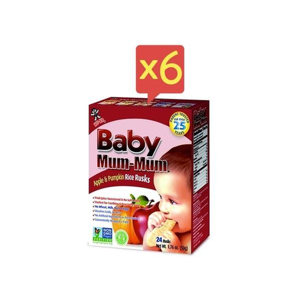 Pack 6 cajas de galletas Apple & Pumpkin Baby Mum-Mum Baby Mum-Mum - babytuto.com