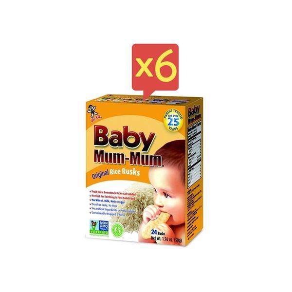 Pack 6 cajas de galletas sabor original Baby Mum-Mum Baby Mum-Mum - babytuto.com
