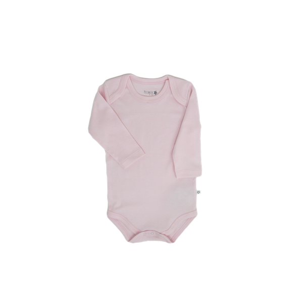 Body  de algodón manga larga, rosado, Primär Primär - babytuto.com