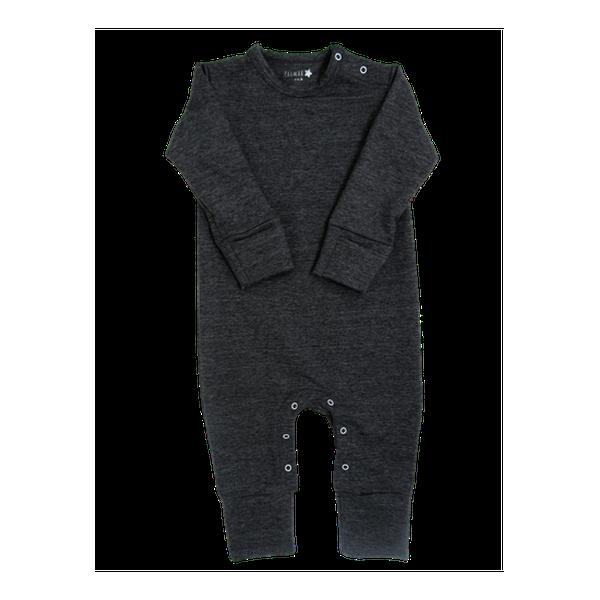 Enterito- pijama de algodón, grafito,  Primär Primär - babytuto.com