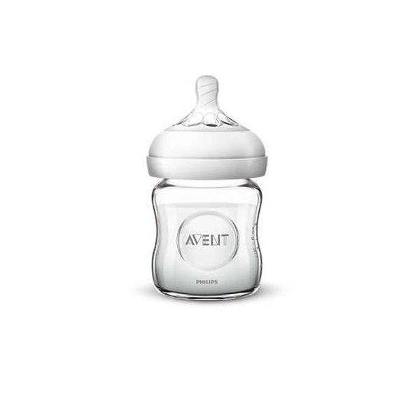 Mamadera natural de vidrio 120 ml, Avent  Philips AVENT - babytuto.com
