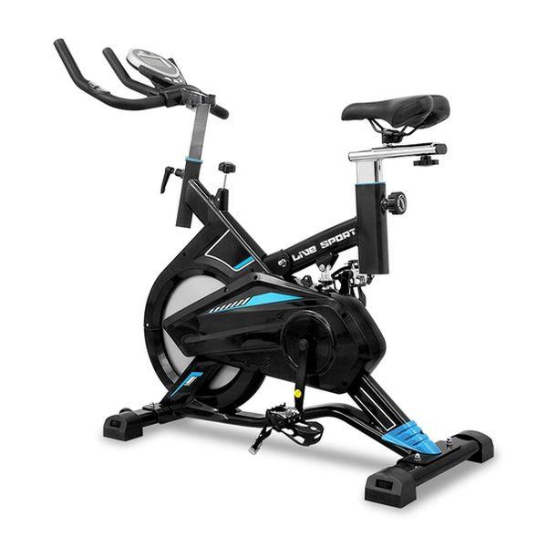 Bicicleta spinning, azul, Live Sport Live Sport - babytuto.com