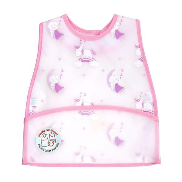 Babero plástico classic niña rosado hadas Bambino Bambino - babytuto.com