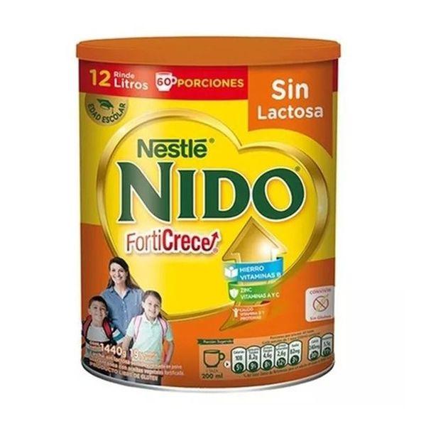 Leche Nido Forticrece sin lactosa nueva fórmula en tarro 1,4 kg Nestlé Nestlé - babytuto.com
