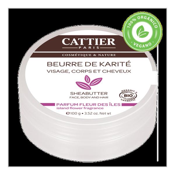 Manteca de Karité Pura - Perfume Flores de las Islas 100gr Cattier Cattier - babytuto.com