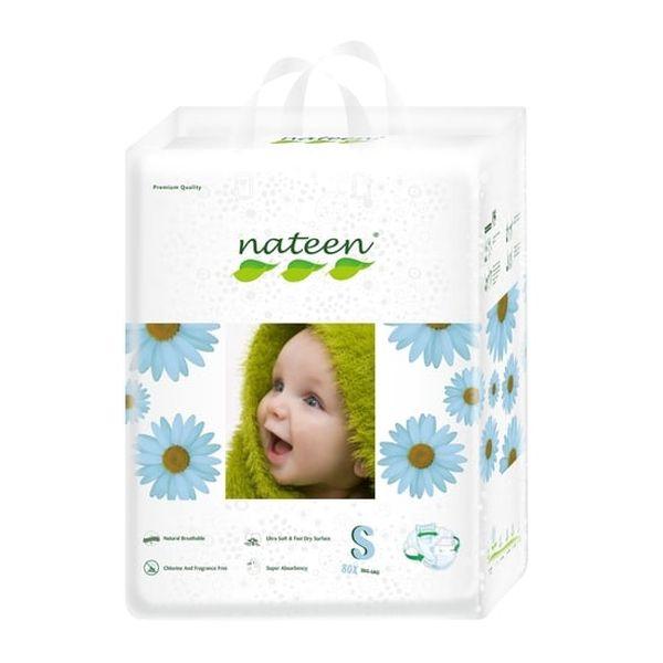 Pañales Desechables Premium Nateen Talla: P (3-6 Kg) 80 uds  Nateen - babytuto.com