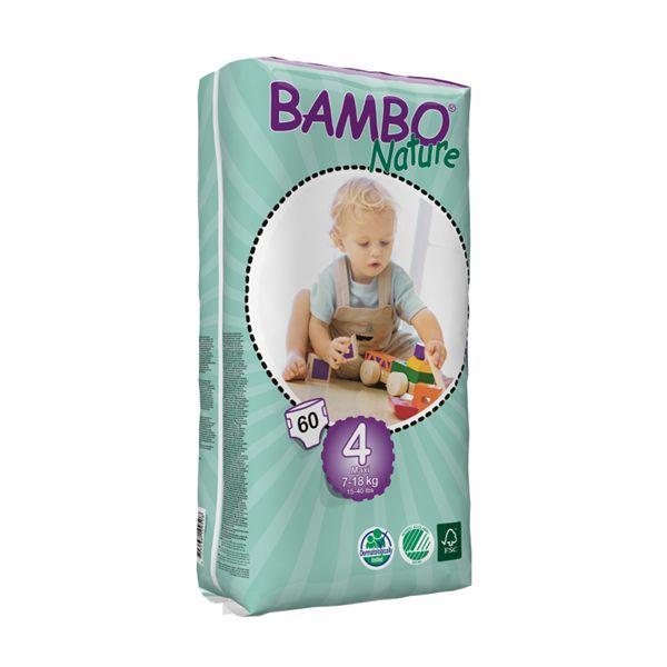 Pañales Desechables Bambo Nature Talla: XG-XXG (7 - 18 Kg) 60 uds Bambo Nature - babytuto.com