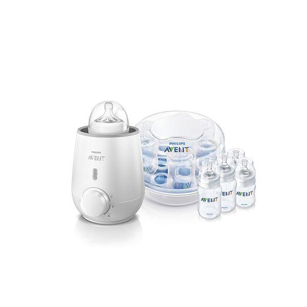 Pack calienta mamadera y alimentos + esterilizador de mamaderas para microondas  Avent - babytuto.com
