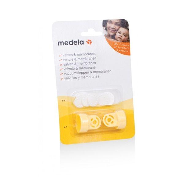Repuesto set 2 válvulas + 6 membranas Medela Medela - babytuto.com