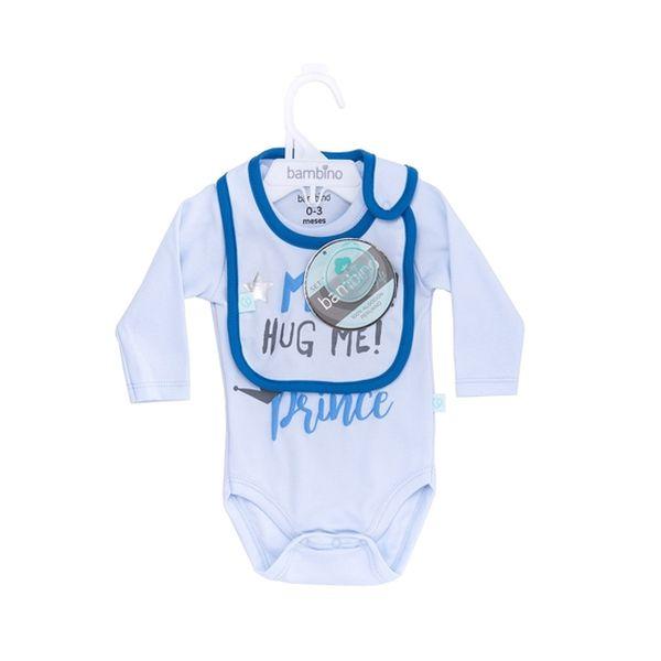 Set body y babero boy Moms little prince Bambino Bambino - babytuto.com