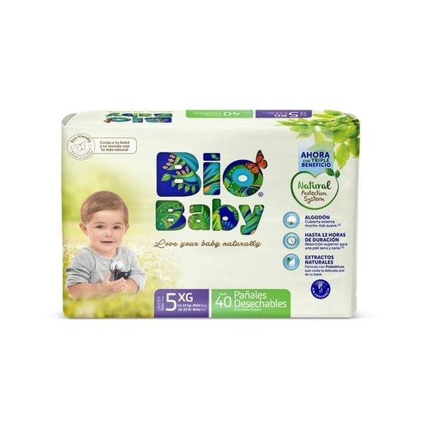 Pañal Desechable Premium Ecológico Bio Baby Talla: XG (12 - 16 Kg) 40 uds Biobaby - babytuto.com