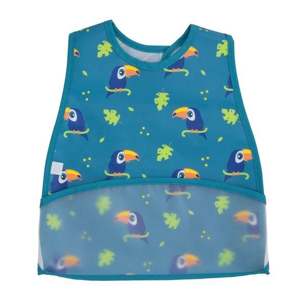 Babero plástico modern niño azul tucanes Bambino Bambino - babytuto.com