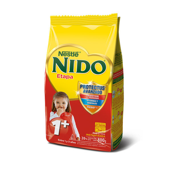 Leche en polvo NIDO® Etapa 1+ Protectus Avanzado Bolsa 800g Nestlé - babytuto.com