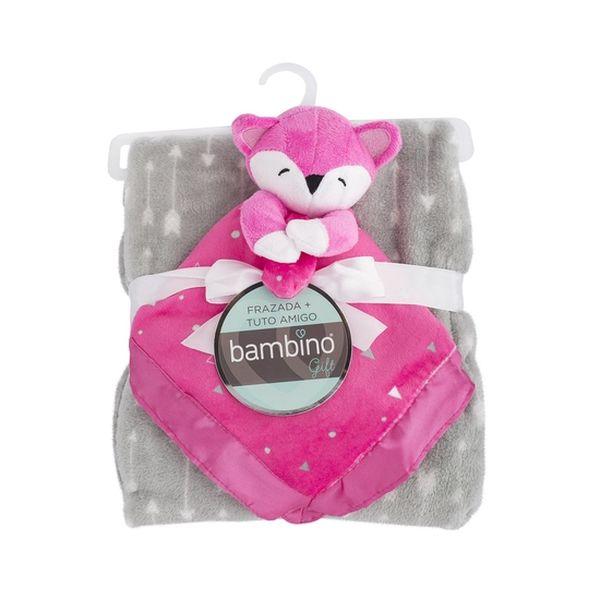 Frazada + tuto amigo koala rosado Bambino Bambino - babytuto.com
