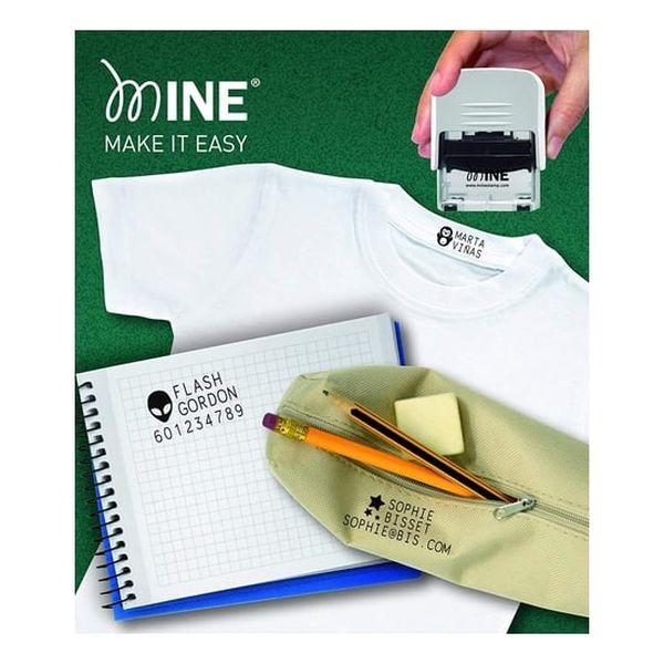Marcador imborrable de ropa y libros blanco Mine Mine - babytuto.com
