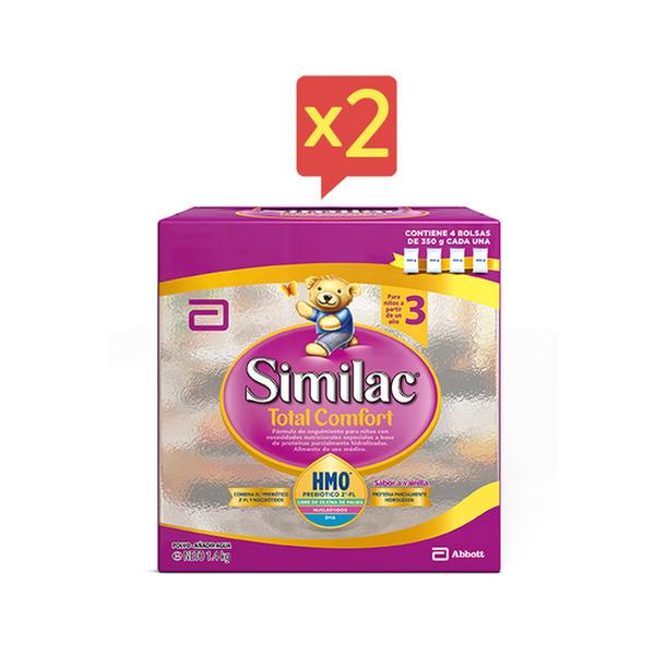 Pack 2 similac total comfort 3 polvo 1400 g  Similac - babytuto.com
