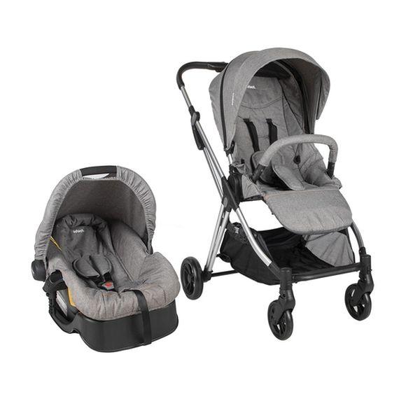 Coche travel system Smart Walk, Light grey, Infanti Infanti - babytuto.com