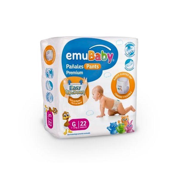 Pañales Desechables Emubaby Talla: G (9- 13 Kg) 22 uds EMUBABY - babytuto.com