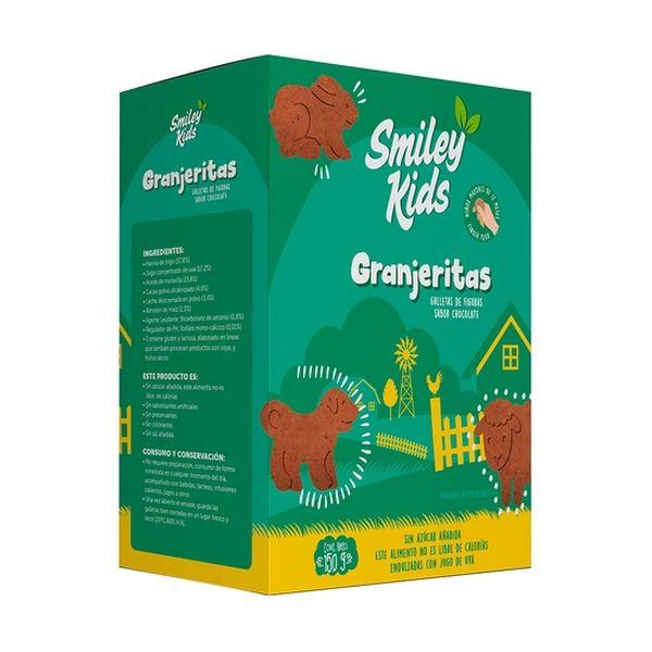 Galletas Granjerita Sabor Chocolate, Smiley Kids  Smiley Kids - babytuto.com