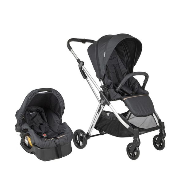 Coche travel system Smart Walk, dark grey, Infanti Infanti - babytuto.com