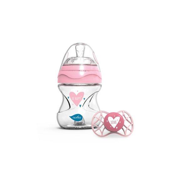 Set de mamadera + chupete recién nacido pink, Nuvita Nuvita - babytuto.com