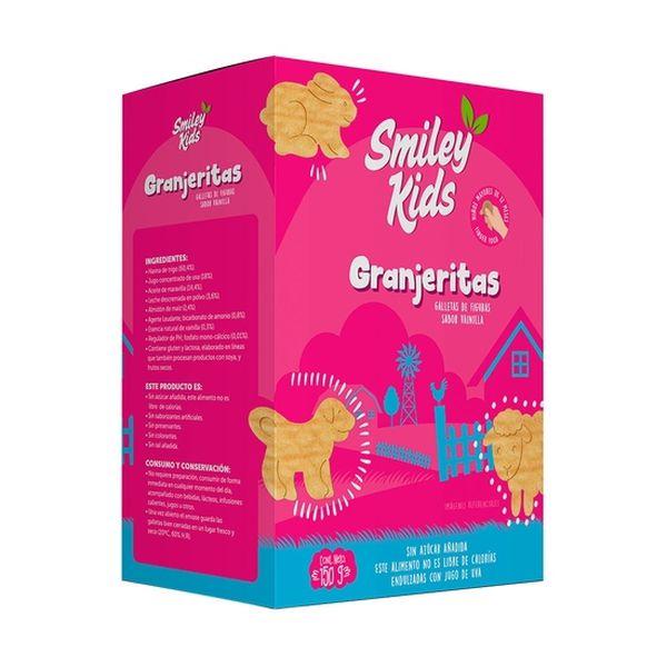 Galletas Granjerita Sabor Vainilla, Smiley Kids  Smiley Kids - babytuto.com