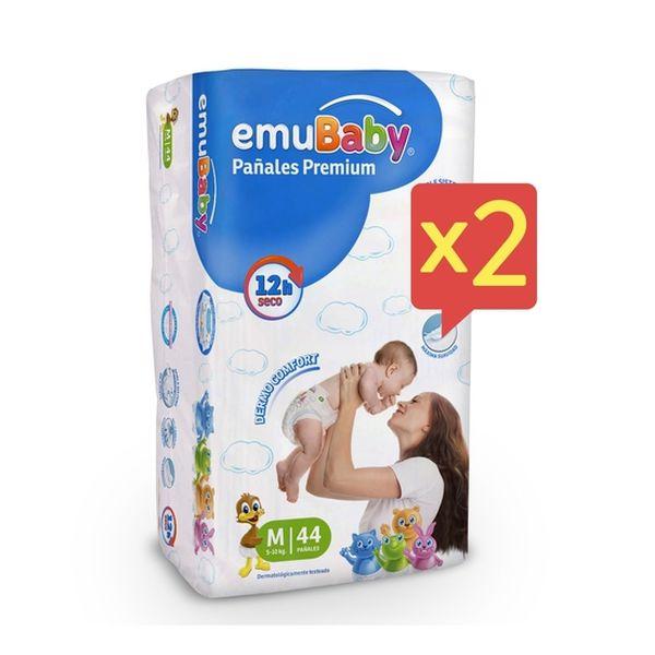 Pack 2 Pañales Desechables Emubaby Premium M  EMUBABY - babytuto.com