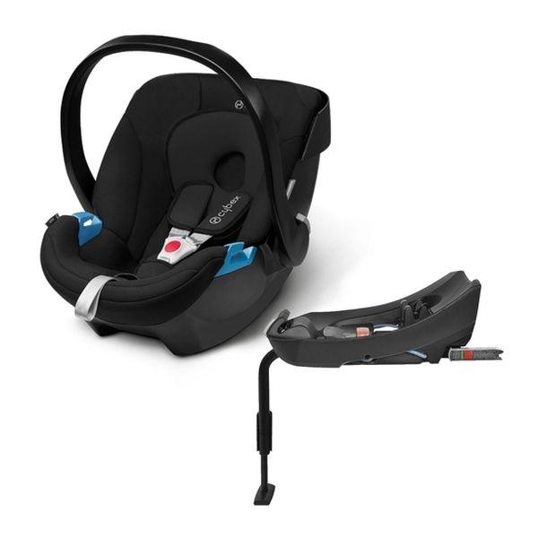 Silla para auto Aton + Base 2-Fix Pure Black Cybex Cybex - babytuto.com