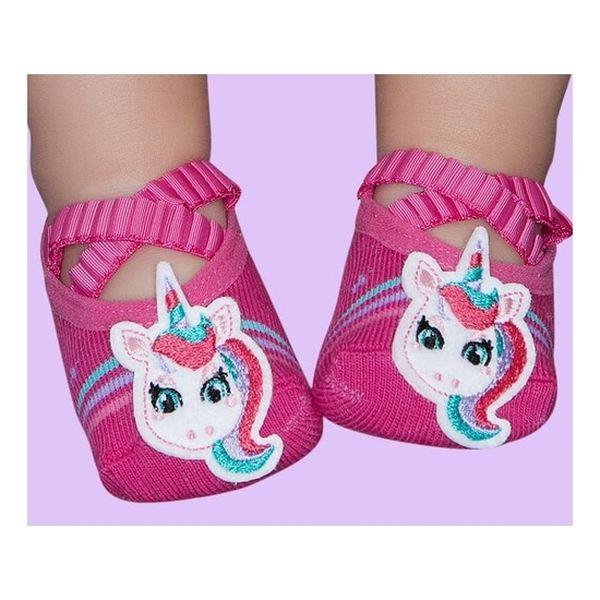 Calcetín rosa unicorn Puket  Puket  - babytuto.com