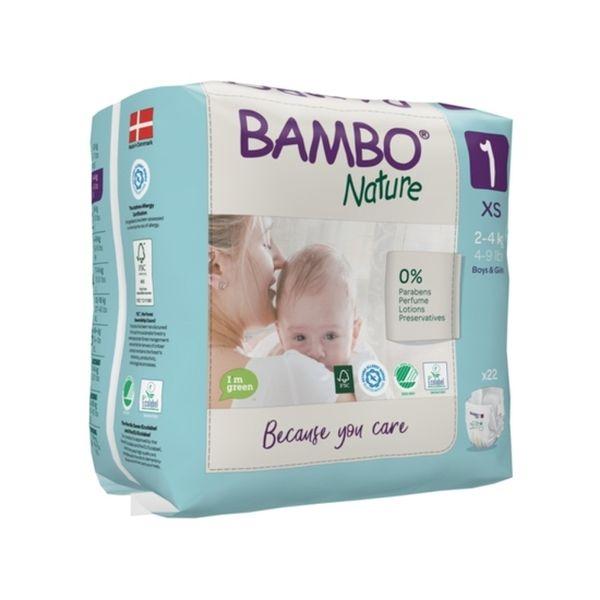 Pañales Desechables Ecológicos Bambo Nature Talla: RN (2-4 Kg) 28 uds Bambo Nature - babytuto.com