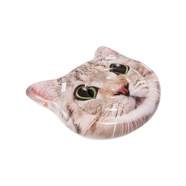 Flotador Cat Face Island  147x135cm Intex - babytuto.com