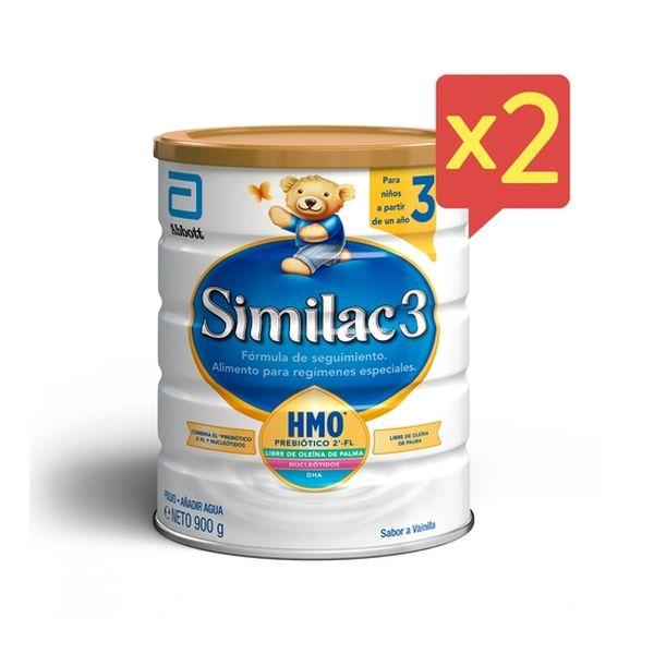 Similac 3 polvo 900 g Pack 2 unidades Similac - babytuto.com