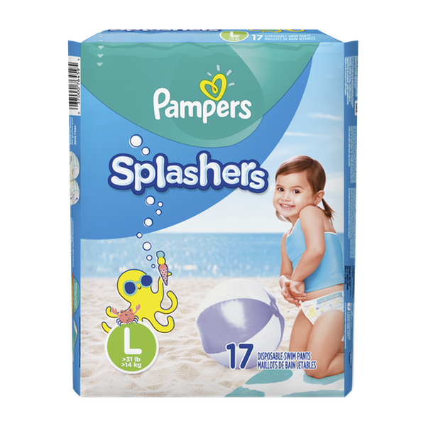 Pañales Pampers Splashers Talla L 17 unidades Pampers - babytuto.com