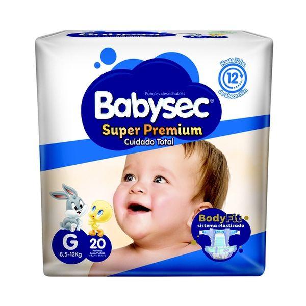 Pañales desechables Cuidado Total talla Grande. 20 unidades BabySec - babytuto.com