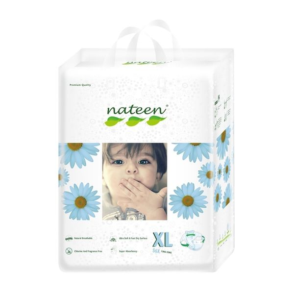 Pañales Desechables Premium Nateen Talla: XG (12 - 25 Kg) 56 uds Nateen - babytuto.com