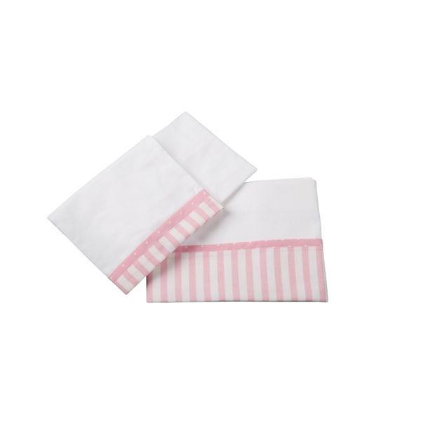 Sábanas pack & play, listado rosado, 70x100 cm, Bee-Bee Bee-Bee - babytuto.com
