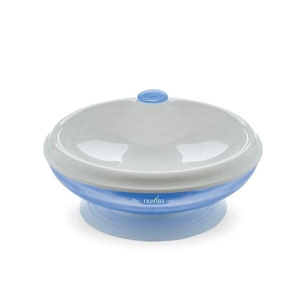 Plato con tapa para microonda azul pppl0025 Nuvita Nuvita - babytuto.com