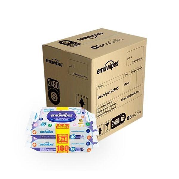 Caja Emuwipes Toallitas Humedas Superior 24 bolsas x 80 unidades Emuwipes - babytuto.com