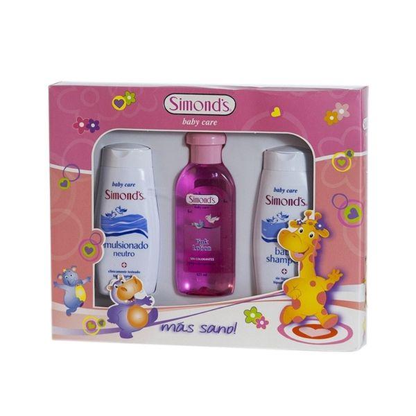 Estuche Shampoo + Emulsionado Hipoalergénico Pink, Simond's Simond's - babytuto.com