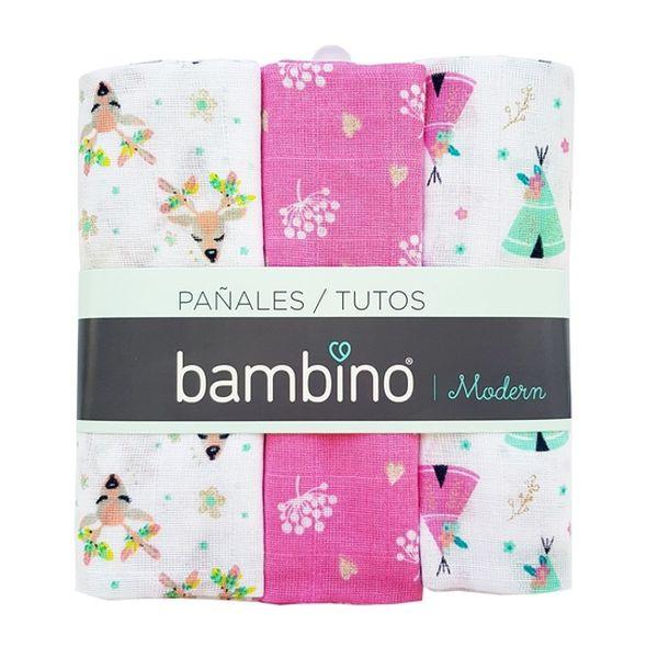 Pañal modern niña animalitos Bambino Bambino - babytuto.com