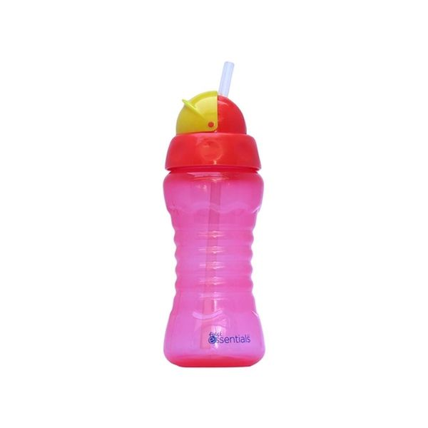 Vaso Con Bombilla Sport 270ml Rojo, First Essentials  First Essentials  - babytuto.com