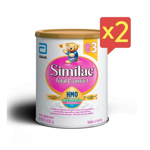 Similac total comfort 3 polvo 820 g Pack 2 unidades Similac - babytuto.com
