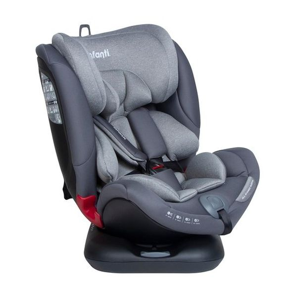 Silla Convertible All Stages Isofix S, Gris, Infanti Infanti - babytuto.com