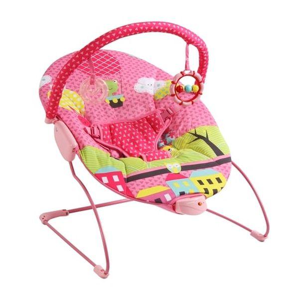 Silla nido bouncer vibrador color rosado Bebesit Bebesit - babytuto.com